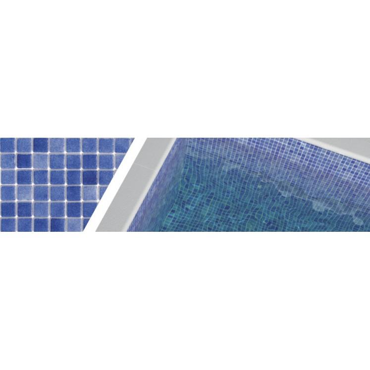 Gresite azul oscuro niebla 3002 para piscinas 2,5x2,5