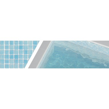 Gresite azul niebla 3004 para piscinas 2,5x2,5