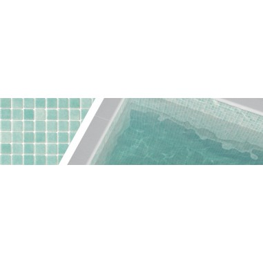 Gresite verde caribe 3057 para piscinas 2,5x2,5
