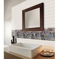Azulejo Lowland 34x50 blanco acabado brillo para paredes