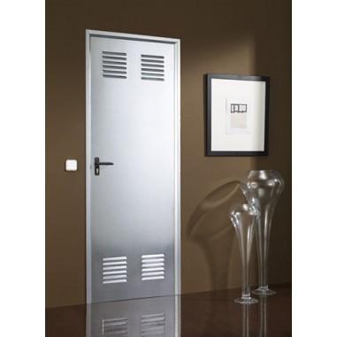 Puerta chapa galvanizada 0,70x0,70 con ventilación