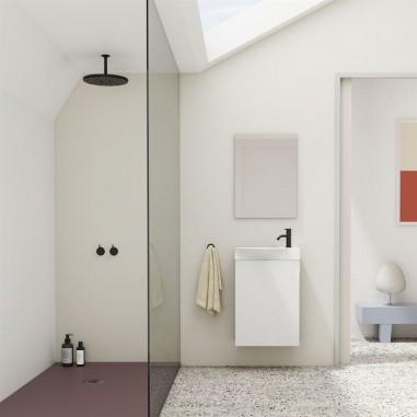 Mueble de baño MIKA.  Blanco Brillo| Incluye lavabo cerámico y espejo.